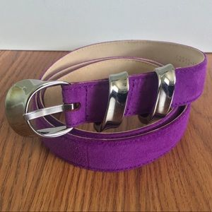 Escada • Purple Suede Leather Belt